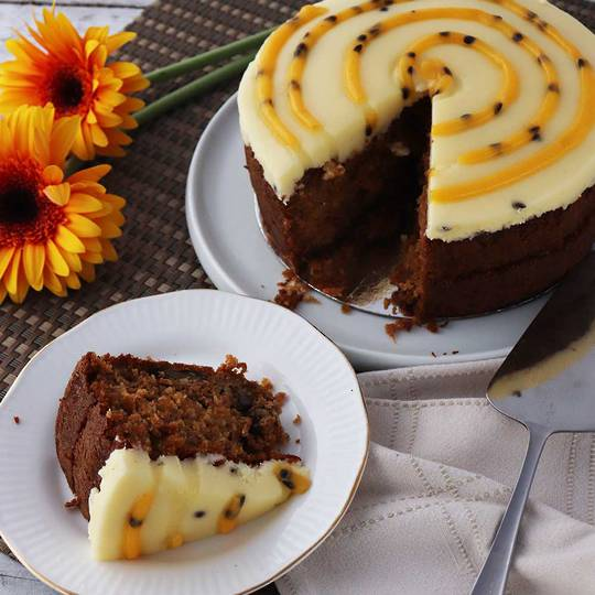Carrot and Passionfruit Cake