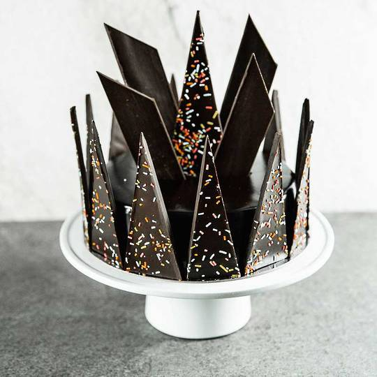 Double Chocolate Shard Surprise Cake