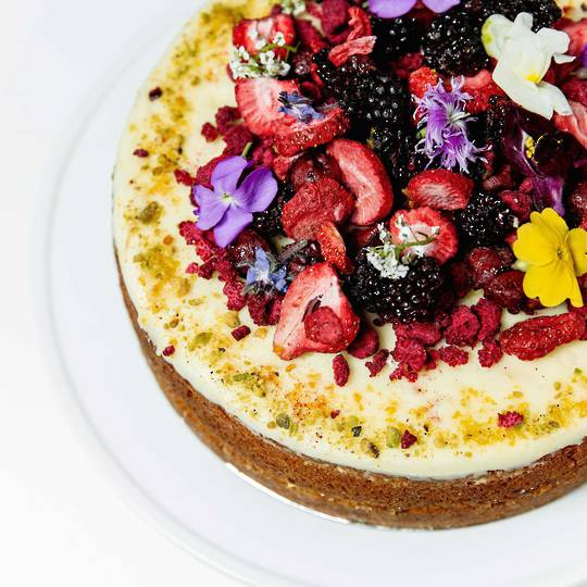 Floral Berry Crush Cake