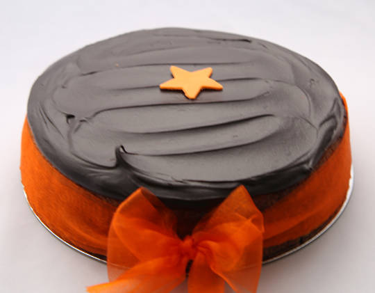 Non-Gluten Orange Cake with Chocolate Icing