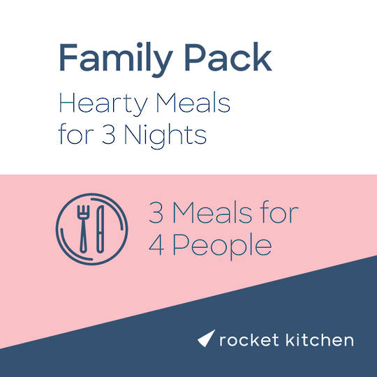 Family Pack - Hearty Meals (3 Meals for 4 people)