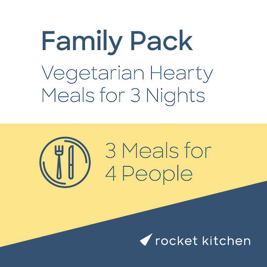 Family Pack - Vegetarian Hearty Meals (3 Meals for 4 people)