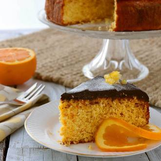 Low-Gluten Jaffa Orange and Chocolate Cake