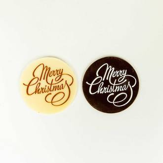 """Merry Christmas"" Chocolate Message Plauque"