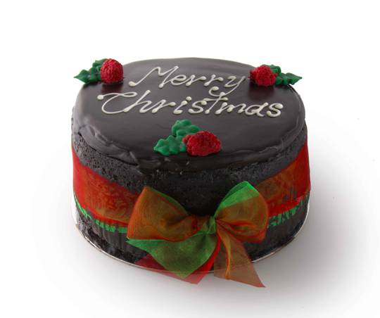 "7"" Merry Christmas Message Cake"