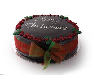 "11"" Merry Christmas Message Cake"