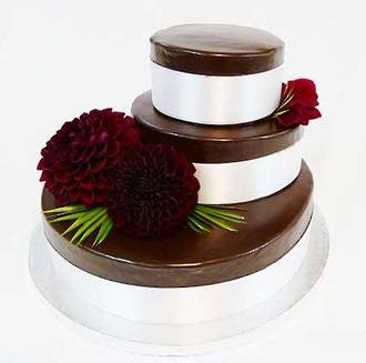 3 Tier Chocolate Whiskey Wedding Cake