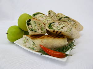 Crunchy Smoked Chicken Waldorf Wrap
